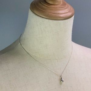 Authentic Tiffany Tear Drop Necklace AG925
